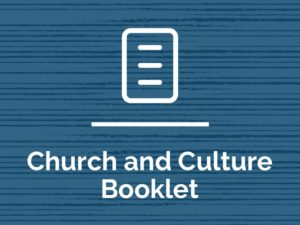 Church and Culture Booklet (2016 edition)