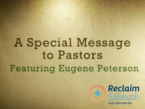 Matthew Sleeth interviews Eugene Peterson