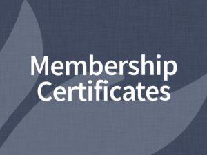 Membership Certificates / Certificados de Miembro