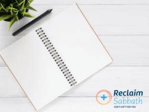 Writing A Sabbath Plan