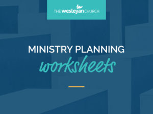 Ministry Planning Worksheets