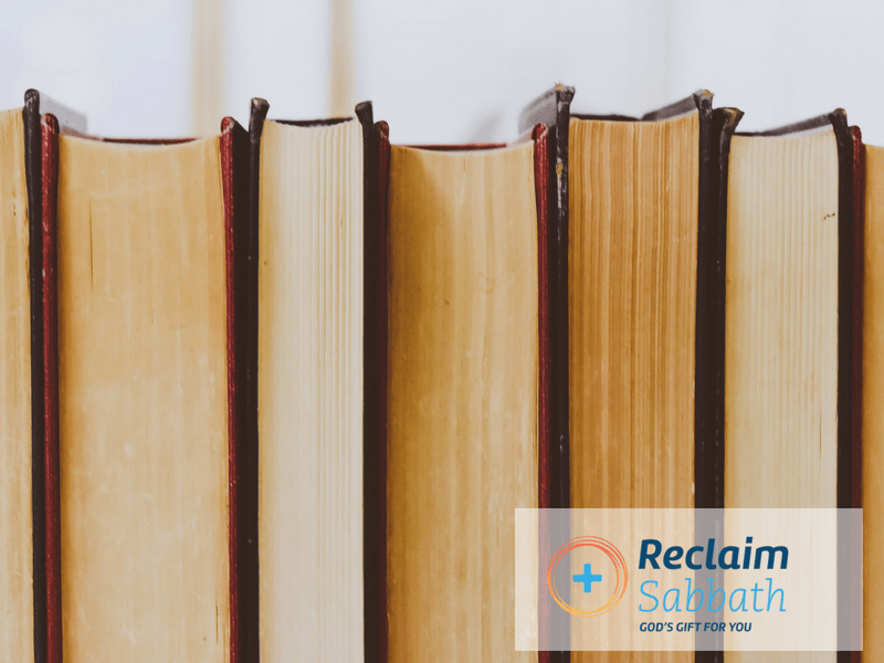 Reclaim Sabbath Book Recommendations